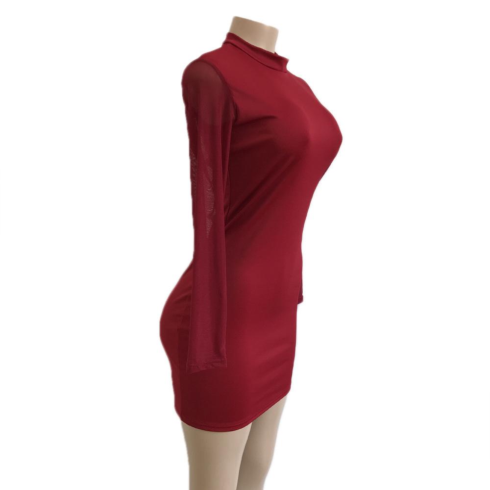Swaggy HTB1ew1XcsrI8KJjy0Fhq6zfnpXa1 Langärmliges Slim Kleid