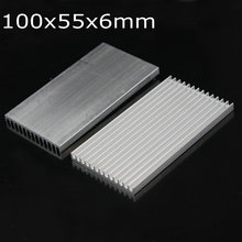 5PCS 100mm Extruded Aluminum Heatsink 100x55x6mm Heat sink IC Chip LED Radiator Heat Sink