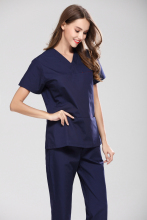 Women Short Sleeve Medical Scrub Uniforms Set Dental Clinic Doctor's Surgical Clothes Suit Hospital Beauty Spa Workwear Overalls(China)