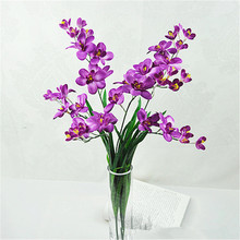 5pcs Artificial Freesia Flower with Green Leaf 2 stems/piece for Wedding Centerpieces Home Part Floral Arrangement Part 4 Colors