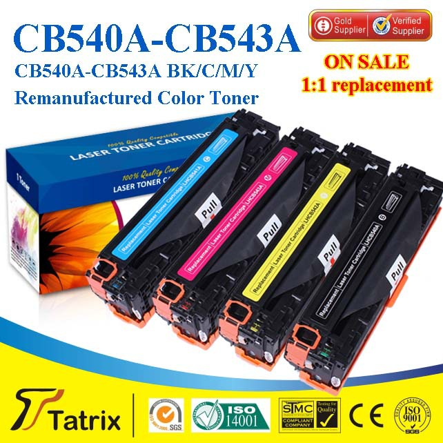 Compatible color toner cartridge CB540 for HP Laserjet Printer with A+++ quality grade ,free shipping<br><br>Aliexpress