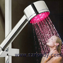bathroom Self-powered LED shower head Temperature Control 3 Color Shower Head Set(China)