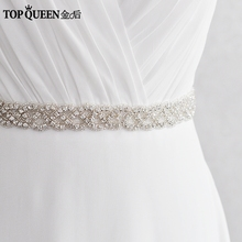 Buy TOPQUEEN S216 Handmade Rhinestones Evening Party Prom Dresses Accessories Wedding Belt Sashes Waistband Can Customize Size for $11.99 in AliExpress store