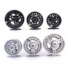 cycle zone Machined Metal Fly Fishing Reel Adjustable Disc Drag Fly Fishing Ice Wheel Fishing Reel Accessories 2 Colors