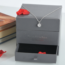 WR Red Rose Wedding Decorations Necklace Eternal Flower with Quality Case Birthday Gift Fresh Dried Rose for Girlfriend Gifts(China)