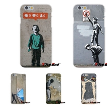 For HTC One M7 M8 A9 M9 E9 Plus Desire 630 530 626 628 816 820 Soft Silicone Phone Case Funny Street Art Banksy Graffiti(China)