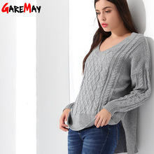 Sweater Women Pull Knitting Jumper Autumn Winter Pullover Female Jersey Mujer Invierno Knitted Tops Sweater For Women GAREMAY(China)