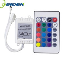 OSIDEN DC12V 24 Keys IR Remote RGB Controller for SMD3528/5050/5730/5630/3014 RGB LED Strip lights Mini Controller(China)