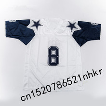 Retro star #8 Troy Aikman Embroidered Name&Number Throwback Football Jersey(China)