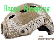 Hot Sale FAST Base Jump Bike Riding Helmet PJ rapid response parachuting desert digital camo(China)