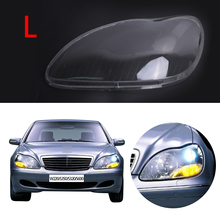 Left Transparent Housing Headlight Lens Cover Lamp Assembly For Mercedes Benz W220 S350 S600 S430 S500 amg 2000-2006 #PD555-L
