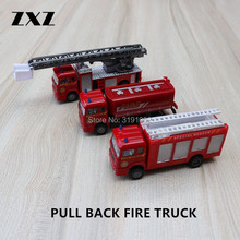 ZXZ 1:72 Metal Alloy Cars Pull Back Fire Trucks Diecast Model Hot Toy for Children