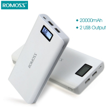 Original 20000 mAh ROMOSS Sense 6 / 6 Plus LCD Portable Power Bank Charger External Battery Fast Charging For Phones Tablet PC
