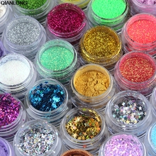 1Pc 2018 Professional 6 Colors Glitter Eyeshadow Eye Shadow Makeup Shiny Loose Glitter Powder Eyeshadow Cosmetic Make Up Pigment(China)