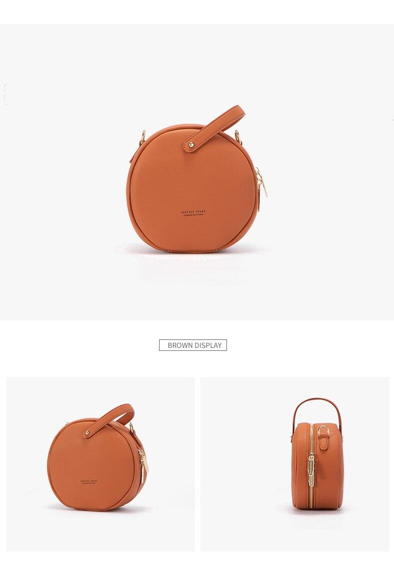 حقيبة بشكل دائري صغيرة الحجم بالوان متعددة 15
