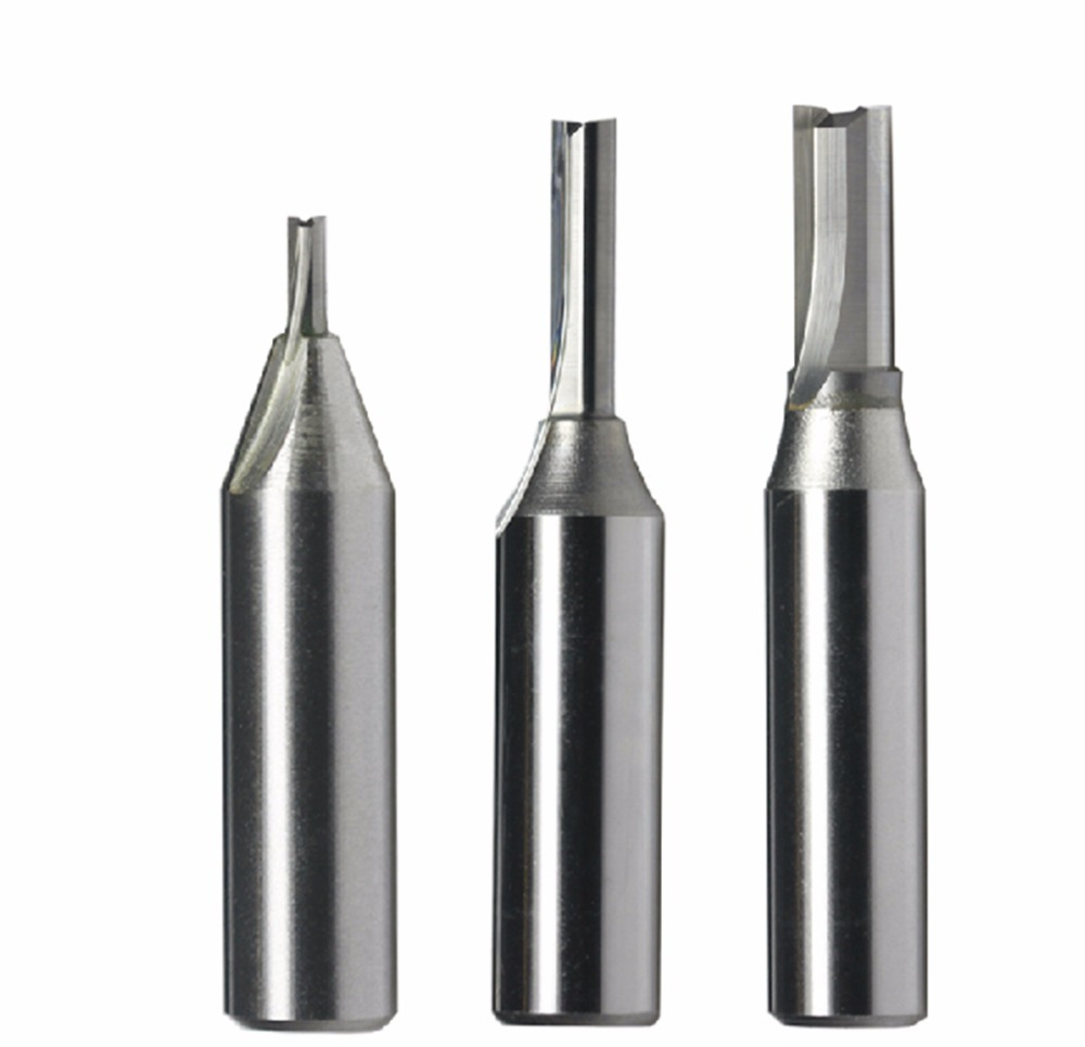 1/2 TCT Tungsten Carbide Double Two Straight Flute Router Cutter Bit 6*26mm<br>
