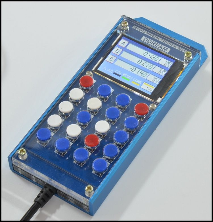 CNC MACH3 Multifunction Manual Control Box with LCD Display Serial 6 Axis<br>