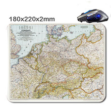 National Geographic Map 220mm*180mm*2mm DIY Rectangle Non-Slip RubberHD 3D Printing Gaming Rubber Durable Notebook Mouse Pad