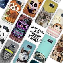 New China cute panda owl dog Clear Case Cover Coque Shell for Samsung Galaxy S3 S4 S5 Mini S6 S7 Edge Plus