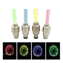 4pcs/set bike light mountain road bike bicycle lights LEDS Tyre Tire Valve Caps Wheel spokes LED Light