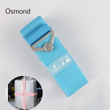 Osmond 150CM/220CM Nylon Luggage Strap Belt Trolley Suitcase Adjustable Security Packing Belts Baggage Belts Travel Accessories(China)