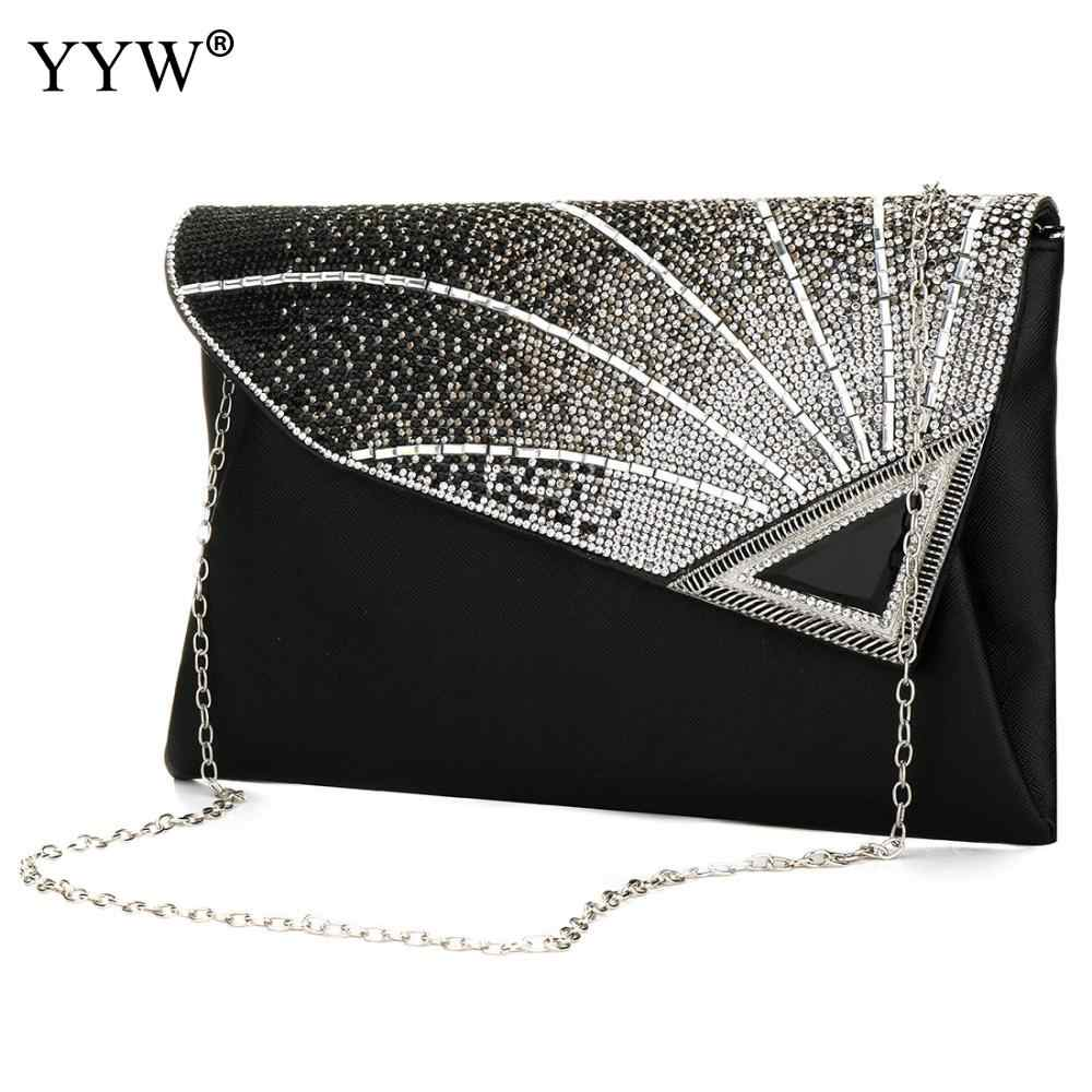 New Womens Patent Leather Flap Purse Wallet Clutch Handbag Shoulder Evening Bag