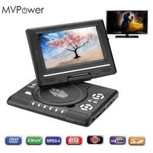 "MVPower For 7.0"" HD LCD Portable DVD Player Rechargeable 270 degree Swivel Screen For Digital Video TV Game USB FM Radio AV(China)"