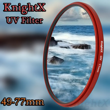 KnightX Multi Coated Ultra-Violet Filter MCUV UV MC For Canon Nikon SLR Camer Lens  accessories model parts free ship D5200 5D