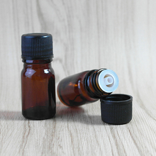 (40pcs/lot)5ML brown glass oil bottle portable glass perfume bottles, small bottle Hot sale(China)