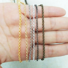 3meter Link-Opened Iron Rolo Chain 2.5mm Loop Link Bracelet Necklace Cable Vintaged Round Findings kit handmaking Components