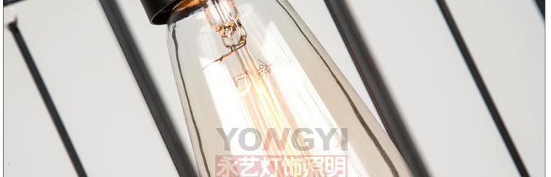 Modern iron cage pendant light hallway restaurant study balcony bedroom  living room fashion Rural round K9 crystal lamps ZA - us469 c7085a940caa