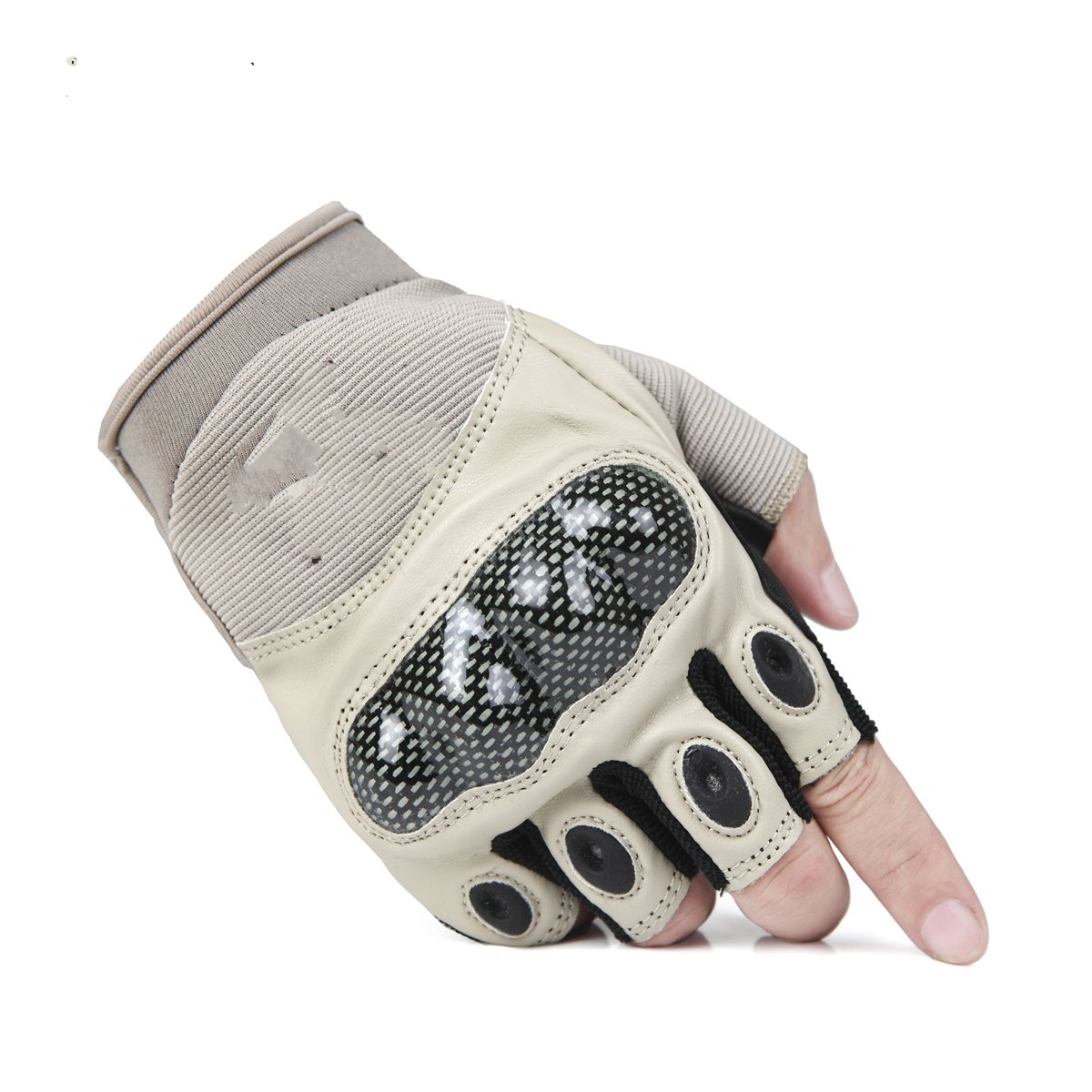 Outdoor helmet PU leather protective equipment wear-resistant anti-skid mountain climbing all refers to the half-finger gloves<br><br>Aliexpress