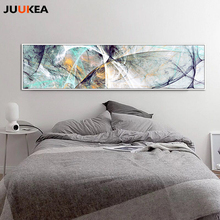 Large Size Long Abstract Creative Design Psychedelic Lines Canvas Print Painting Poster Wall Picture For Home Decor 24x94 inch