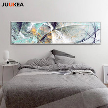 Large Size Long Abstract Creative Design Psychedelic Lines Canvas Print Painting Poster Wall Picture For Home Decor 24x94 inch(China)