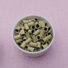 1000pcs 3.4*3.0*6.0mm flared  Euro locks Micro copper tube Rings links beads for Remy Human Hair Extensions tool