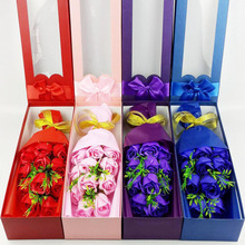 2017 Mother's day 11pcs/Box Rose Flower Soap Bubble Bath Petals Birthday Gift Box for Wedding Gift Bouquet Mother's gifts(China)