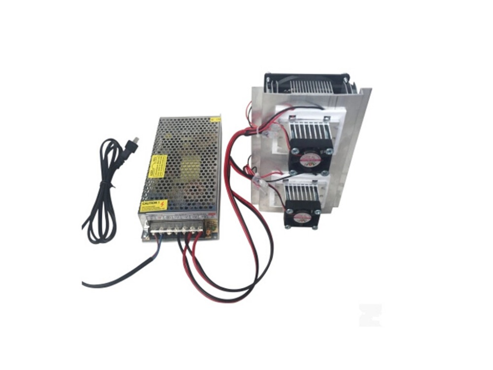 Thermoelectric Cooler Peltier Refrigeration Cooling TEC System Kits Double Fan + power supply and power cord cable(China (Mainland))