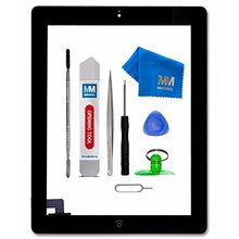 For IPAD 2 white/black Digitizer Touch Screen Front Display Glass Assembly - Includes Home Button and flex + Camera Holder(China)
