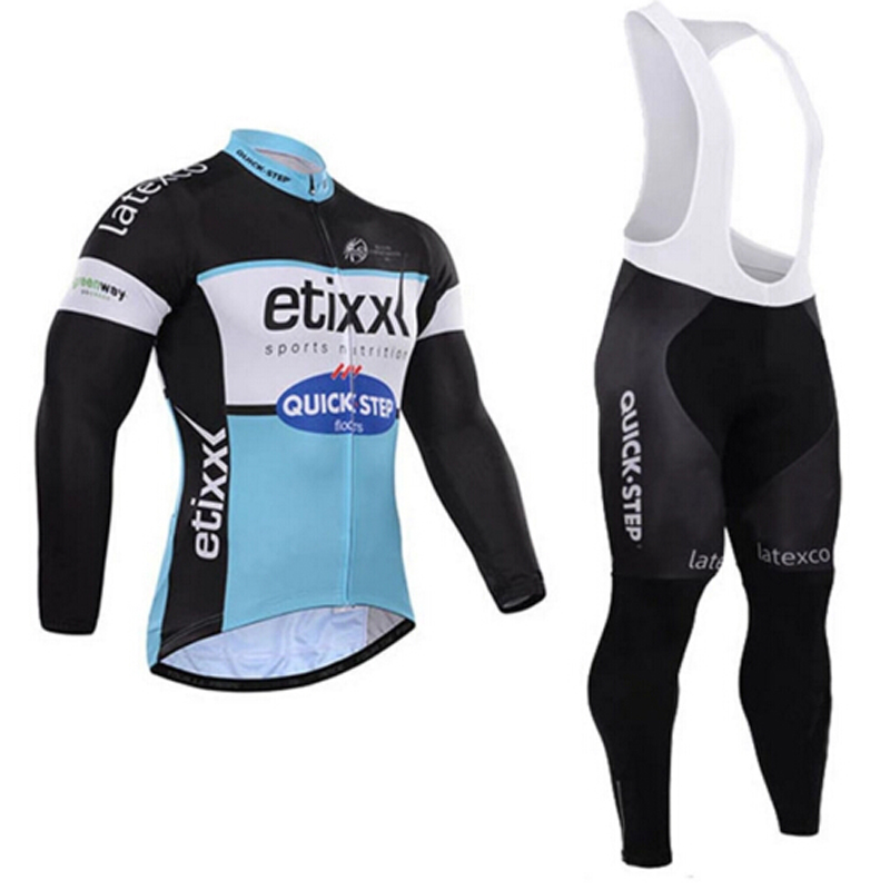 Pro Team Quick Step Long Sleeve Cycling Jerseys Quick-dry Mens Breathable Cycling Jersey Bike Maillot Ciclismo Cycling Clothing<br>