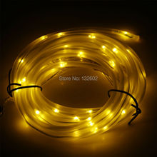 5m 50 Leds Solar Powered Warm White LED String Light Garden Light Waterproof Outdoor Led String Fairy TUBE lamps Free Shipping(China)