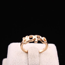 Wholesale New Bridal Jewelry Gold Color Letter HOPE Design Finger Ring High Quality Wedding Gfit R459