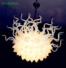 Hot Sale White Murano Glass Chandelier Led Lighting For Party Decoretion(China)