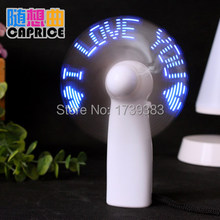 10pcs/lot Portable Fan DIY Flexible LED PARTY Light Mini Fan Programme Any Text Edit Reprogramme Character Advertising Message