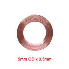 5mm Outer Diameter  x 0.5mm Thickness Soft copper tube metal hose air conditioner pipe