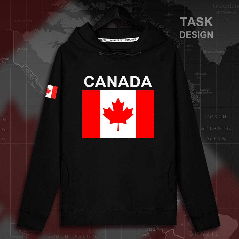 Maple Leaf Canada Canadian Outer Jacket with Pockets Womens Pullover Fleece Long Hoodies Dress