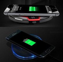 100PCS/Lot Samsung Galaxy S7 S6 Edge Plus Qi Wireless Charger Accessory Power Bank Charging Pad Galaxy Note 8 5 Charger