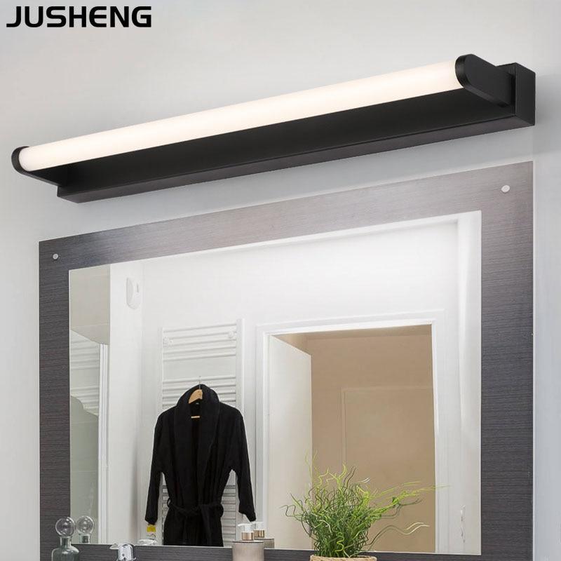 JUSHENG High quality indoor LED wall lamp modern aluminum black white decorative LED mirror light wall lamp lighting