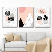 Nordic Canvas Painting Nordic Cactus Wall Art Painting Decorative Picture Canvas Poster Print Wall Pictures Kids Room Home Decor