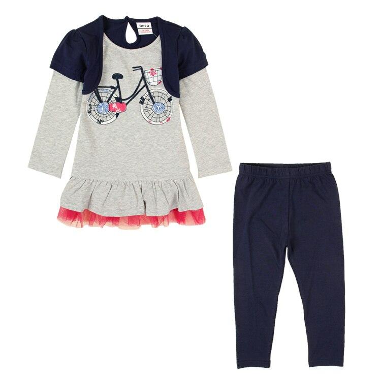 Retail children winter set NOVA baby kids girls wear clothing set winter dress and pants causal girls clothing set HG4820<br><br>Aliexpress