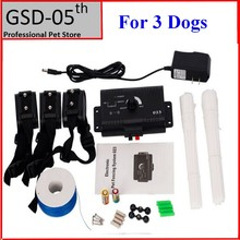 3 Dogs Underground Electric Shock Dog Pet Fencing System InGround Dog Fence Collar Dog Training Trainer Collar(China)